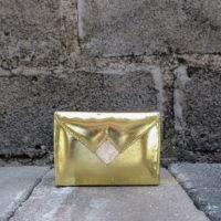 Box Clutch Mini Metallic Gold