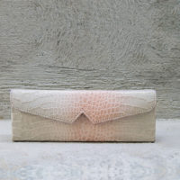 Box Clutch Elongated Nude Blush