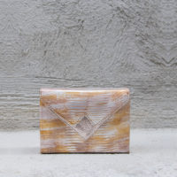 Box Clutch Mini Metallic Reptile Print