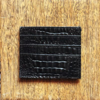 Credit Card Holder Black Croc Print