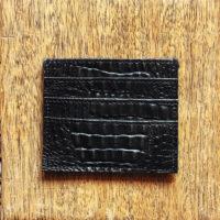 Credit Card Holder Black Croc Print