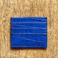 Credit Card Holder Blue Croc Print