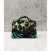 TKO Mini Leopard Print Peacock Green Blue