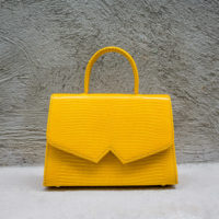 Alpha Classic Saffron Yellow Lizard print