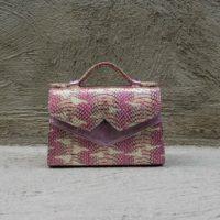TKO Mini Iridescent Pink Snake Print