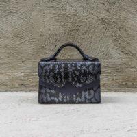 TKO Mini Metallic Dolphin Blue & Black Snake print with Navy insert