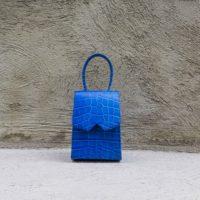 Alpha Mini Blue Crocodile Print