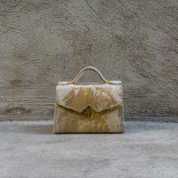 TKO Mini Cream & Gold Calf Leather & Calf fur