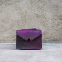 Waist Bag Metallic Purple Lizard Print