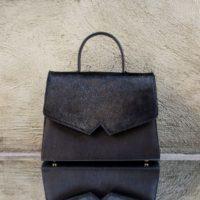 Alpha Madam Black Calf Leather & Calf Fur