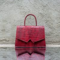 Alpha Classic Berry Red Crocodile Print