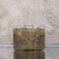 Waist Bag Metallic Gold Lizard Print