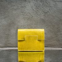 Ice Clutch Yellow Crocodile Print