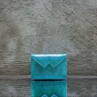 Box Clutch Mini Electric Turquoise