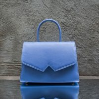 Alpha Classic Cornflower Blue Printed Leather