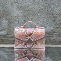 TKO Mini Iridescent Light Pink Snake Print