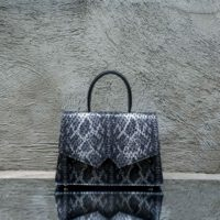Alpha Classic Black Silver Snake Print