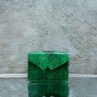Waist Bag Green Ayers Snake Skin