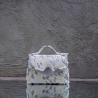 TKO Mini White Calf Fur & silver Calf Leather