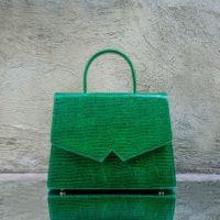 Alpha Madam Green Lizard Print