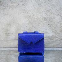 Waist Bag Blue Croc Print