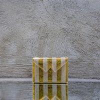 Box Clutch Mini Metallic Gold Silver Calf Leather
