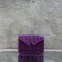 Waist Belt Bag Purple Croc Print