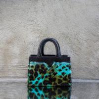 SST Mini Turquoise Calf Hide Black Calf Skin