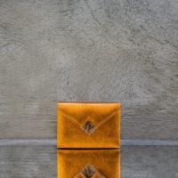 Box Clutch Mini Golden Yellow Calf and Snake Insert