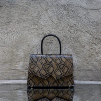 Alpha Classic Brown And Black Snake Print Leather