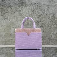 SST Classic Lilac Croc Print Metallic Blush Calf Skin