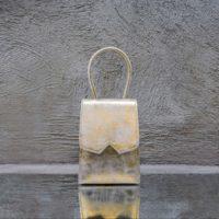Alpha Mini Cream Sparkle Gold Calf Leather