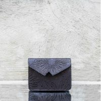 Black Laser Cut Waist Belt Bag