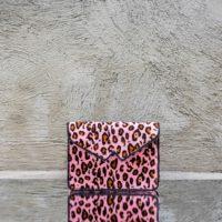 Rose Pink Waist Bag Leopard Print Calf Hide