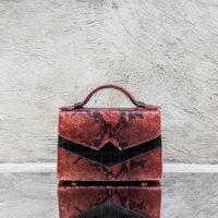 TKO Classic Metallic Syrup Brown Snake Print Leather