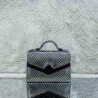 TKO Mini Silver and Black Print Calf Leather