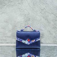 TKO Mini Royal Blue Calf Leather Floral Calf Print Insert