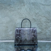 Alpha Classic Metallic Pewter Silver Snake Print