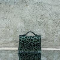 TKO Mini Patent Green Pebbled Printed Leather