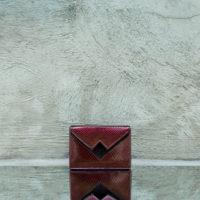 Box Clutch Mini Patent Wine Snake Print Leather Calf Hide Insert