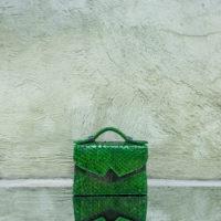 TKO Mini Pine Green Ayers Snake Skin Leather