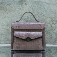 Understudy Grey Crocodile Embossed Leather