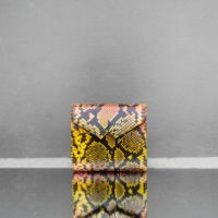 Envelope Clutch Multicolour Snake Embossed Leather