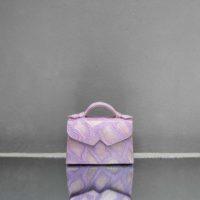 TKO Mini Lilac Snake Embossed Leather