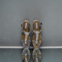 Thong Slippers Sand Snake Embossed Leather