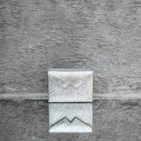 Box Clutch Mini Distressed Silver Calf Skin