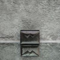 Box Clutch Mini Metallic Brass Calf Skin