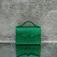 TKO Classic Green Reptile Embossed Leather