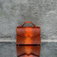 TKO Classic Orange Reptile Embossed Leather
