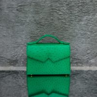 TKO Classic Green Ostrich Embossed Leather